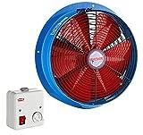 Axialventilator Lüfter Gebläse Industrie BSM 500 5500m³/h + 5 A Drehzahlregler