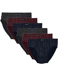 ❯ 6 Slips mit & ohne Eingriff 100% Baumwolle in klassischen Farbkombinationen ohne Eingriff Sparpack Herrenslip Slip mens brief 6er Set verfügbar in S M L XL 2XL 3XL 4XL
