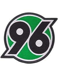 Hannover 96 Aufnäher, Patch, Aufbügler Logo groß H96 - Plus gratis Lesezeichen I Love Hannover