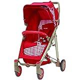 Brevi Crystal Paseggino 233 Traditional stroller 1seat(s) Rojo - Cochecito (Traditional stroller, 15 mes(es), 1 seat(s), Rojo, Aluminio, Poliéster, Plano)