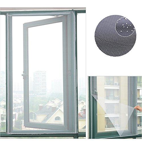 Zanzariera magnetica per finestra, zanzariera invisibile e tagliato con velcro per protezione da insetti 150x130cm