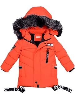 SXSHUN Enfant Garçon Manteau d'hiver Bébés Doudoune Parka à