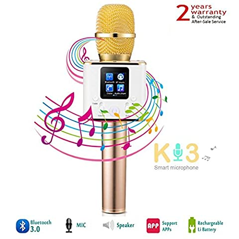 Microphone Bluetooth sans Fil Karaoke Micro Bluetooth YFeel Commandes Dynamiques