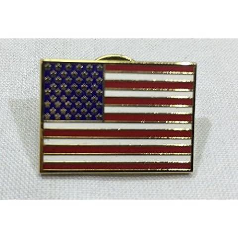 Rectangle American Flag Patriotic Cloisonne Graduation Military