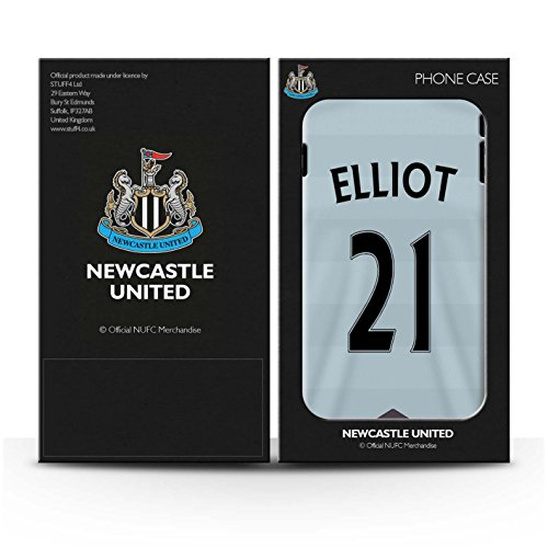 Offiziell Newcastle United FC Hülle / Matte Snap-On Case für Apple iPhone 7 / Taylor Muster / NUFC Trikot Away 15/16 Kollektion Elliot