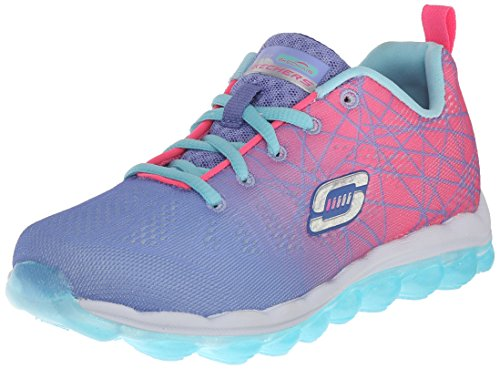 Skechers Girls' Skech Air- Laser Lite Periwinkle and Pink Sneakers