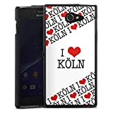 DeinDesign Sony Xperia M2 Aqua Silikon Hülle Case Schutzhülle Cologne Statement Saying