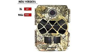 Bestguarder Caméra de Chasse Caméra de Surveillance Étanche 30MP 1920p complète Jeu HD et la chasse Cam avec 940nm prises LED IR Vision de nuit étanche IP68 0.2s Déclenchent Speed pour animaux