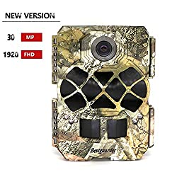 bestguarder Wildlife Camera, Trail Camera 30MP 1920P Full HD Game & Hunting Cam with 48pcs 940nm No-Glow IR LEDs Night Vision IP68 Waterproof 0.2s Trigger Speed for Wildlife Observation and Security