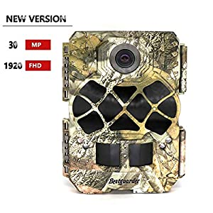 Wildlife Camera, Bestguarder SG-999V Trail Camera 30MP 1920P Full HD Game & Hunting Cam with 48pcs 940nm No-Glow IR LEDs Night Vision IP68 Waterproof 0.2s Trigger Speed for Wildlife Observation and Security