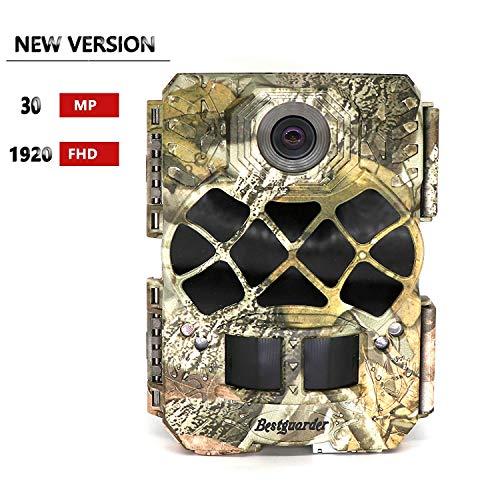 Bestguarder sg-999 V Trail Kamera 30 MP P Full HD Game & Jagd Cam mit tischrockhalter 940 nm No-Glow IR LEDs Nachtsicht IP68 Wasserdicht 0.2s Trigger Speed für Wildlife Beobachtung und Sicherheit