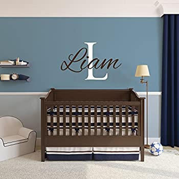 Name wall decals boys room baby wall decals personalized name decal wall