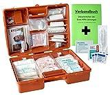 Erste-Hilfe-Koffer Maxi PRO mit DIN/EN 13157 (Betriebe) & DIN/EN 13164 (KFZ) INKL. Verbandbuch & Hygiene-Ausstattung
