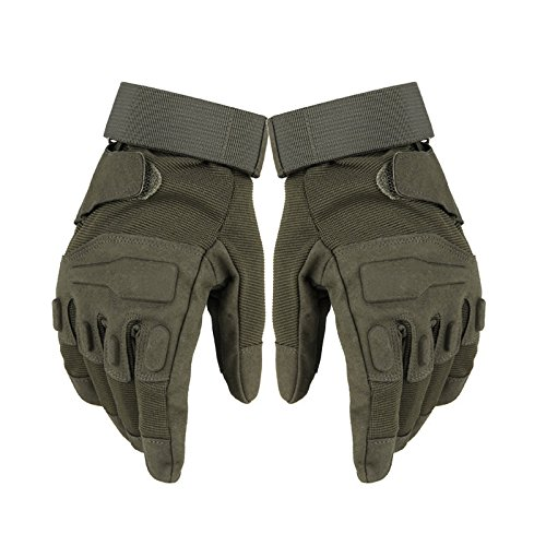 1 Paar Army Gloves Herrenhandschuhe Taktische Handschuhe in L Oliv, perfekte Griffigkeit, hoher Tragekomfort, ideal zum Mountainbikefahren und Paintballspielen