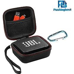 Pushingbest EVA Coque de protection boîte de protection pour JBL Go 2, JBL GO 2 Haut-parleur Bluetooth, Mesh Pocket pour Chargeur et câbles