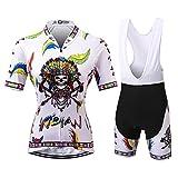 Thriller Rider Sports Damen Indian Sport & Freizeit MTB Fahrradbekleidung Radtrikot und Trägerhose Anzüge 3X-Large