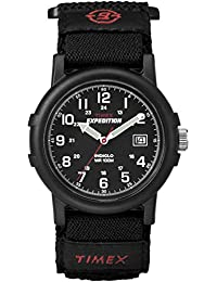 Timex Men's T40011 Quartz Watch with Black Dial Analogue Display and Black Fast Wrap Strap
