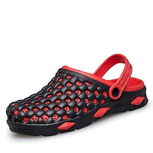 Mode-Löcher im Sommer Hausschuhe/Rutschfeste atmungsaktive Fuß Strand Hausschuhe Rot