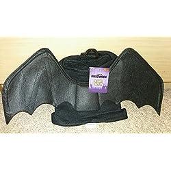 Perro/Perrito Halloween disfraz de murciélago negro abrigo traje ~ truco o tratar ~ Tan Bonita (Extra pequeño) (XS)