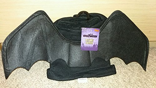 Hund/Welpen Halloween schwarz Fledermaus Kostüm Mantel Outfit ~ Trick or Treat ~ So Cute (Extra Klein) (XS)