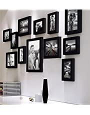 Art Street Decorative Premium Nebula Set of 12 Individual Wall Photo Frame - Black