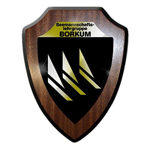 Wappenschild / Wandschild -Seemannschaftslehrgruppe Borkum Bundeswehr Marine Bundesmarine Wappen Abzeichen Matrosen Ausbildung Marinedivision Nordsee Dienstzeit #15312