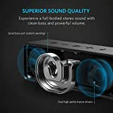 Anker SoundCore Bluetooth Speaker Portable Bluetooth 4.0 Stereo Speaker with 24-Hour Playtime, 6W Dual-Driver, Low Harmonic Distortion, Patented Bass Port and Built-in Microphone for Calls for iPhone, iPod, iPad, Samsung, LG and others