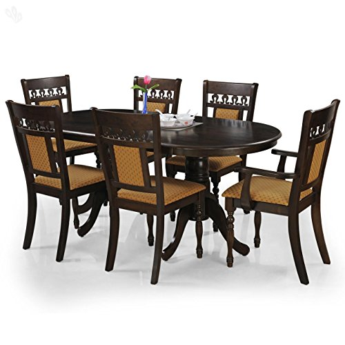 Royal Oak Angel Six Seater Dining Table Set (Walnut)