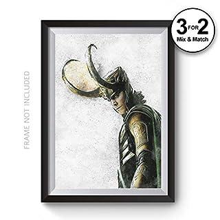 Abstract Loki Wall Art Print, Tom Hiddleston Marvel Universe Superhero Movie Poster, Giclee Quality Digital Painting