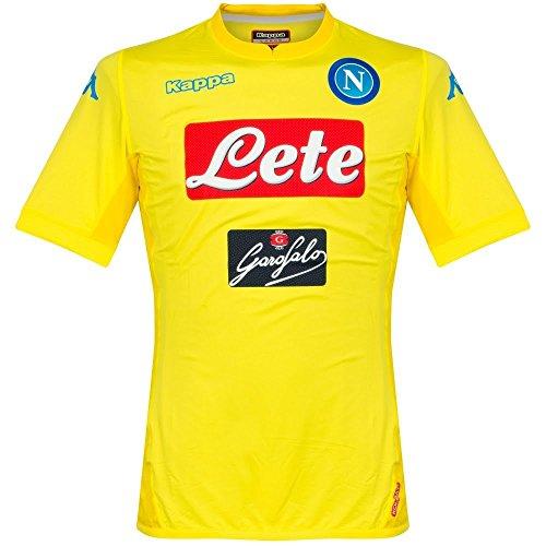 2017 18 SSC Napoli Away jersey Yellow 17 18 Naples Kappa XL Yellow 510c61629806d