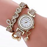 Women's Watch Sonnena Stylish Simplicity Weave Bracelet Quartz Analog Wrist Watch Bracelet Jewelry Set, HOT SALE 2018 Wrist Watch for Party Club Watches Valentine's Day Gift (Bracelet, Gold)