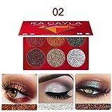 Valentine 's beste Geschenke für Frauen !!! Beisoug Sexy 6 Farben Makeup Shinny Gillter Lidschatten Lidschatten-Palette Kosmetik Set