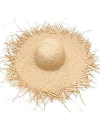 ZXCVBM Sombrero del Sol De Las Mujeres del Verano con Un Borde Grande  Sombrero De Paja De La Rafia De Las Señoras Sombreros Grandes… a35310a7566