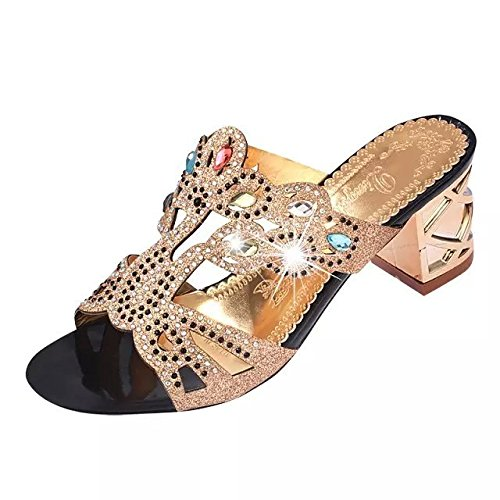 Ms. sandali scarpe di pesce sandali e ciabatte scarpe testa di diamante sandali di massima con cavo Black