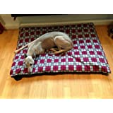 KosiPet® Red Plaid Fleece Deluxe Extra Large Waterproof Dog Bed,Dog Beds,Pet Bed,Dogbed,Dogbeds,Petbed,Petbeds,