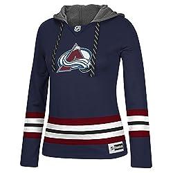 NHL Washington Capitals Womens Jersey Crewdie Sweatshirt, Large, Navy
