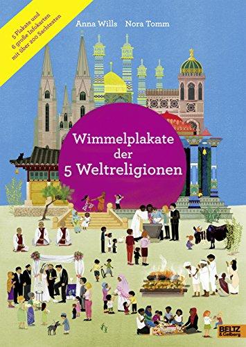 Wimmelplakate der 5 Weltreligionen: 5 Plakate und 6 große Infokarten mit über 200 Sachtexten