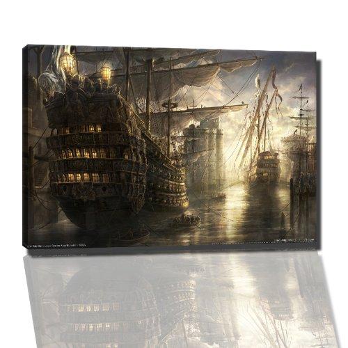 Empire total war Bild auf Leinwand -- 120x80 cm fertig gerahmte Kunstdruckbilder als Wandbild - Billiger als Ölbild oder Gemälde - KEIN Poster oder Plakat