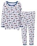 ABClothing Pijamas para niños excavadores, 2 Piezas, algodón súper Suave, Blanco Tamaño 10 11