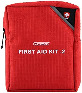 Amzdeal Botiquín de Primeros Auxilios con una bolsa de cremallera Color rojo