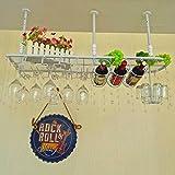 Auf den Kopf hängend Home Weingestell Europäischen Bar Tisch Weingestell Modern Minimalist High-Höhe Weinglas Halter Schwarz, Weiß, Bronze (60cm, 80cm, 100cm) (Farbe : Weiß, größe : 100cm)