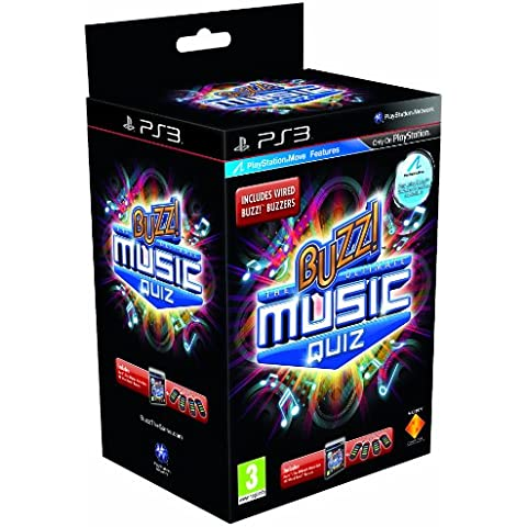 Buzz! The Ultimate Music Quiz with Buzzers (PS3) [Importación inglesa]