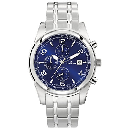 Dugena Men's Chronograph Quartz Watch with Stainless Steel Strap 4460654