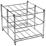3 Tier Oven Rack Chrome Plated Shelves Cooking Roasting Space Saving Foldable Cookware