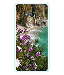 PrintVisa Designer Back Case Cover for Microsoft Lumia 640 LTE (Sea Side Mountains Fragrant Flowers)
