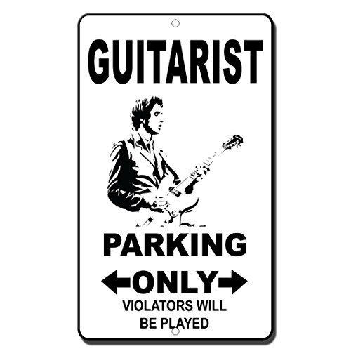 Gitarristen Parking Only Zuwiderhandlungen wird gespielt, Home Decor Metall Schild für Outdoor Yard Sicherheit Schild