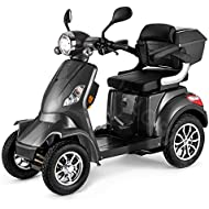 VELECO 4 Wheeled Electric Mobility Scooter 1000W Faster Grey