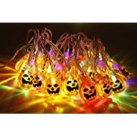 Pumpkin String Lights 30 LEDs 3.14 Meters Halloween Jack-O-Lantern Pumpkin Lights for Halloween Christmas Decorations - Battery Operated