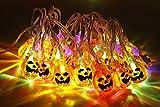 Calabaza Luces de cadena 30 LEDs 3,14 metro Víspera de Todos los Santos Jack-O-Lantern Luces de la calabaza para Halloween Decoraciones de Navidad - De pilas
