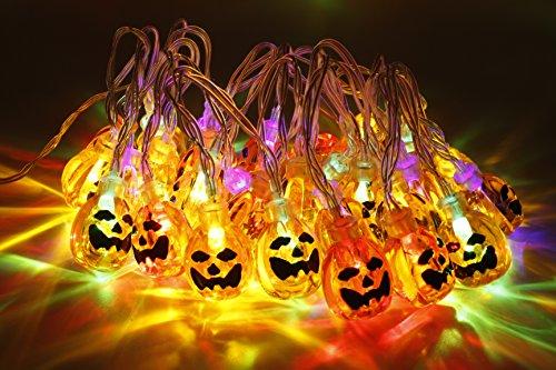 Zucca luci di stringa 30 led 3,14 metro halloween jack-o-lantern luci della zucca per le decorazioni natalizie di halloween - funzionamento della batteria